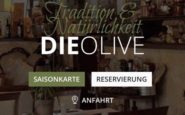 Screenshot Website die Olive