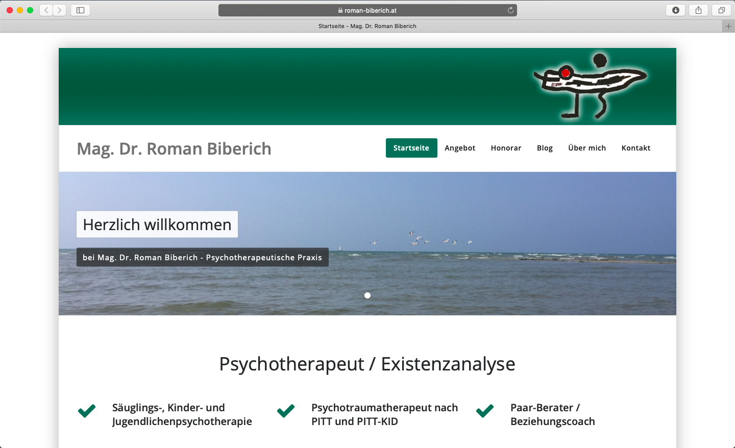 Screenshot www.roman-biberich.at