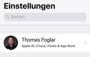 Screenshot iCloud Speicherverwaltung
