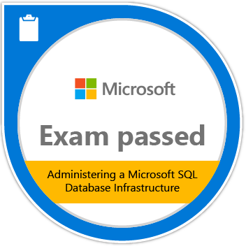 Badge Administering a Microsoft SQL Database Infrastructure