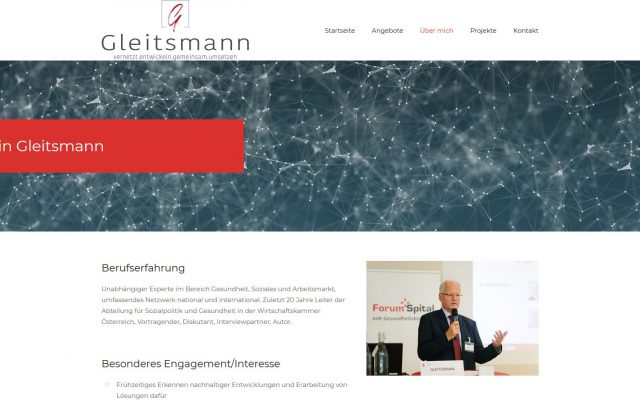 Screenshot gleitsmann.eu