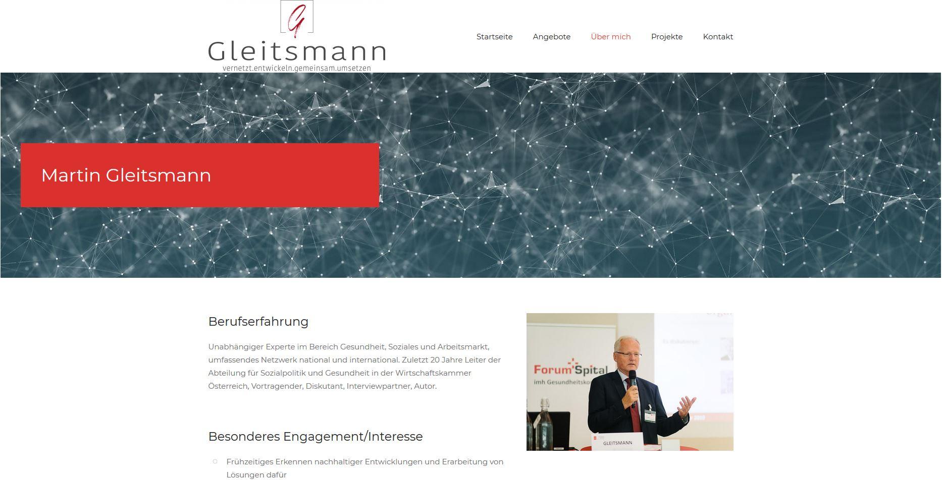 Screenshot gleitsmann.eu