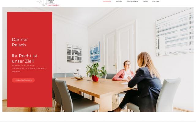 Screenshot Website Rechtsanwälte Danner & Reisch